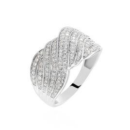 Bague Elfidia Or Blanc Diamant - Bagues avec pierre Femme | Histoire d'Or
