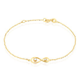 Bracelet Ademar Or Jaune Oxyde De Zirconium - Bracelets Infini Femme | Histoire d'Or
