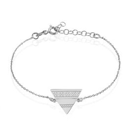 Bracelet Mahala Argent Blanc - Bracelets fantaisie Femme | Histoire d'Or