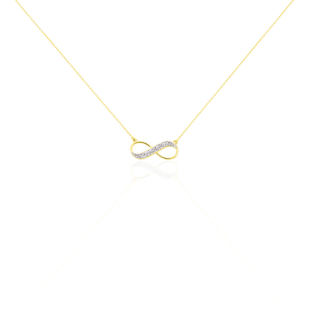 Collier Maryeme Infini Glitter Or Jaune