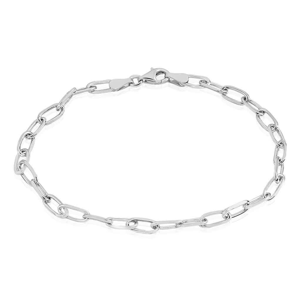 Bracelet Calix Maille Cheval Argent Blanc - Bracelets chaîne Femme | Histoire d'Or