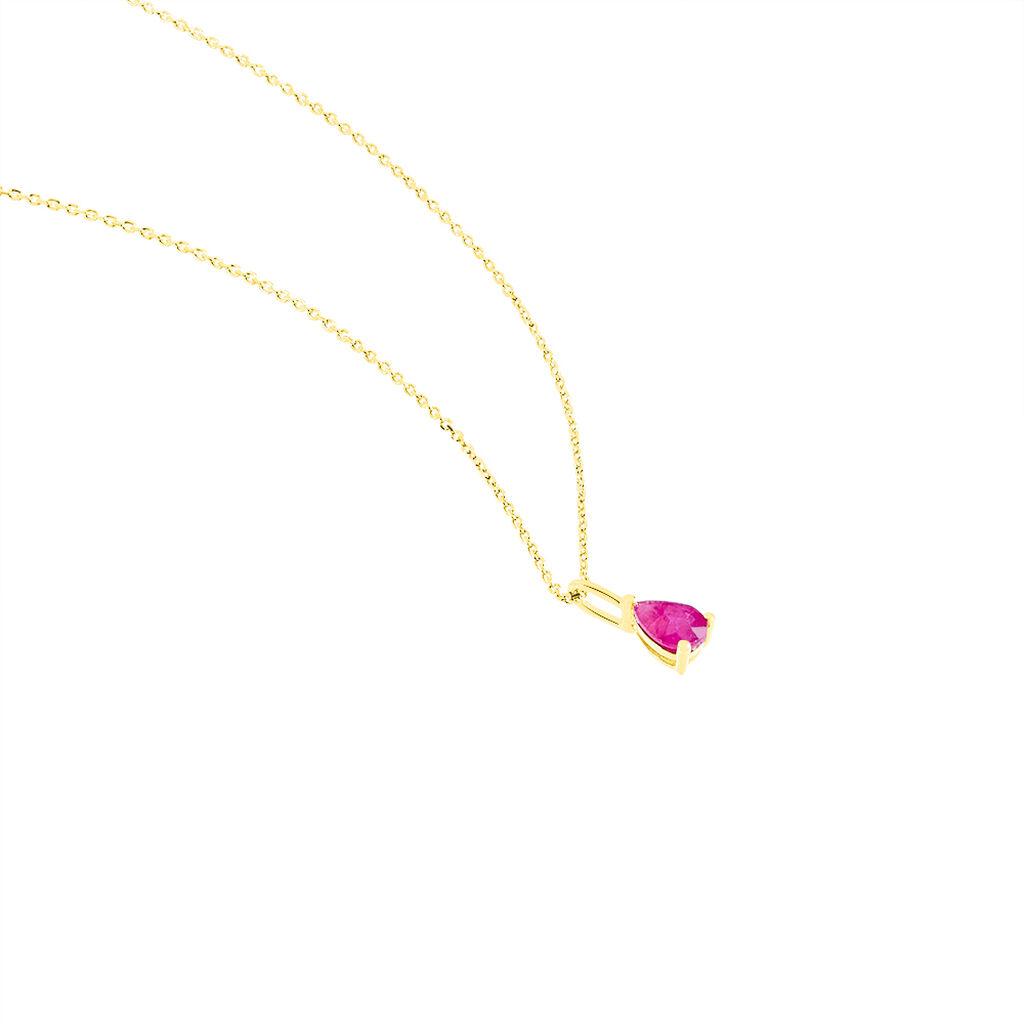 Collier Goutte Or Jaune Rubis - Bijoux Femme | Histoire d'Or
