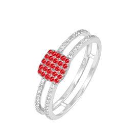 Bague Aude Or Blanc Rubis Et Diamant - Bagues avec pierre Femme | Histoire d'Or
