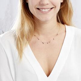 Collier Fares Argent Rose Spinelle - Colliers fantaisie Femme   Histoire d'Or