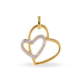 Pendentif Scarlett Plaque Or Jaune Oxyde De Zirconium - Pendentifs Coeur Femme | Histoire d'Or