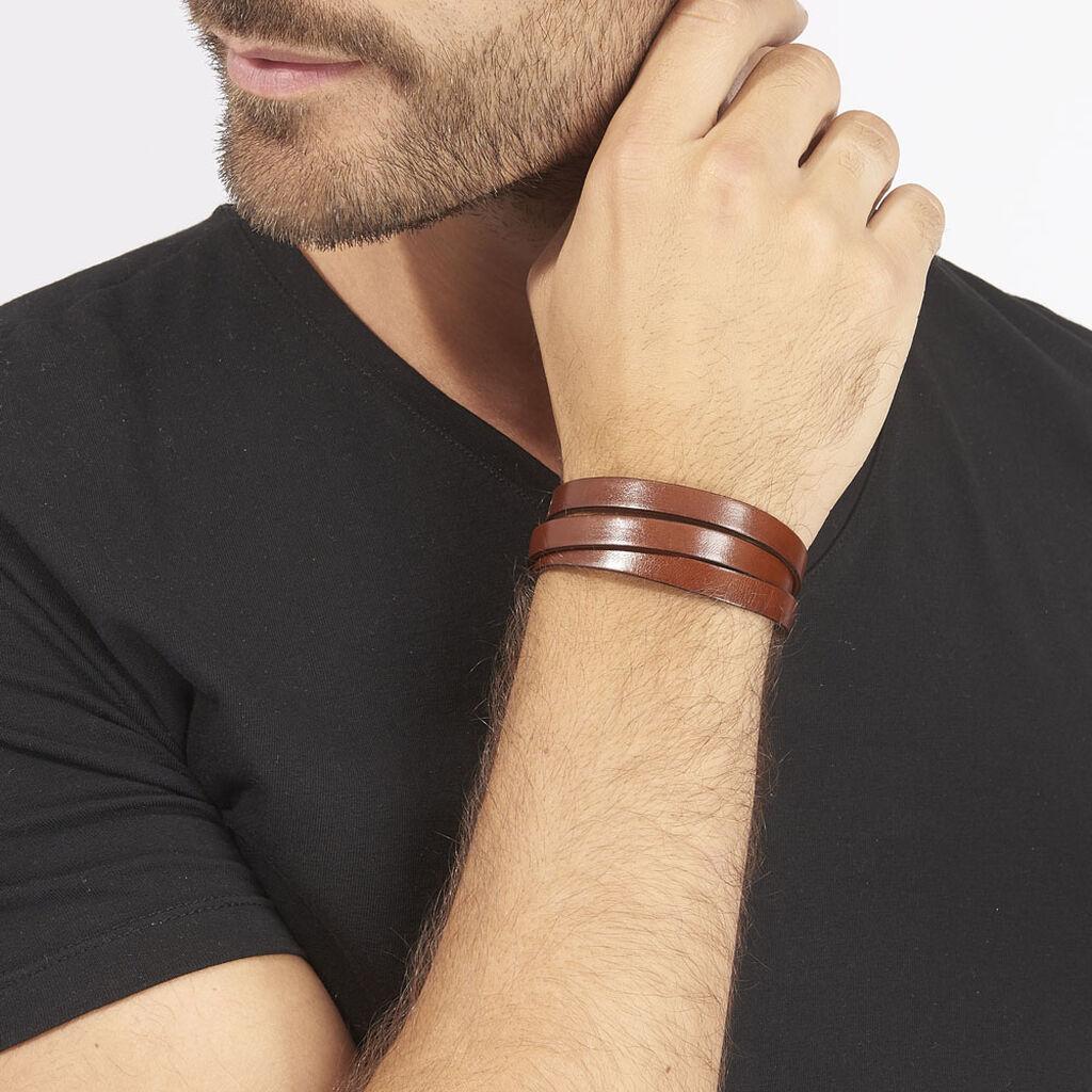 Bracelet Paul Acier Blanc - Bracelets fantaisie Homme | Histoire d'Or
