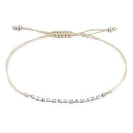 Bracelet Miguyae Argent Blanc Oxyde De Zirconium - Bracelets cordon Femme | Histoire d'Or
