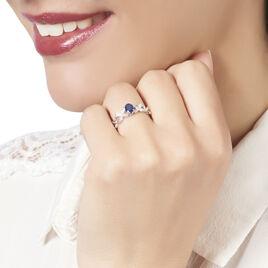 Bague Andrey Or Blanc Saphir Et Diamant - Bagues Croix Femme | Histoire d'Or