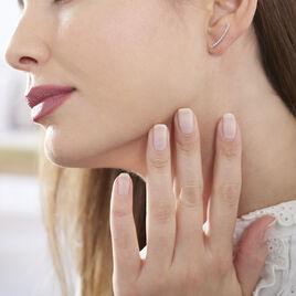 Bijoux D'oreilles Eleana Or Blanc Oxyde De Zirconium - Ear cuffs Femme | Histoire d'Or