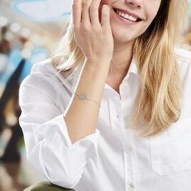 Bracelet Hita Argent Blanc - Bracelets Papillon Femme | Histoire d'Or