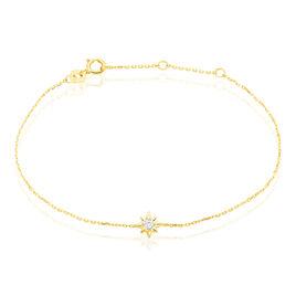 Bracelet Astralia Or Jaune Oxyde De Zirconium - Bijoux Etoile Femme | Histoire d'Or