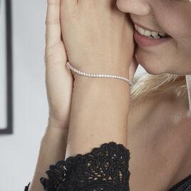 Bracelet Karianne Argent Blanc Oxyde De Zirconium - Bijoux Femme | Histoire d'Or