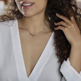 Collier Abelae Argent Blanc - Colliers Infini Femme   Histoire d'Or