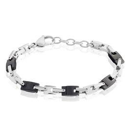 Bracelet Jourdan Homme Black Beal Acier Argente - Bracelets fantaisie Homme | Histoire d'Or