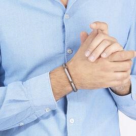 Bracelet Teo Acier Blanc - Bracelets fantaisie Homme | Histoire d'Or