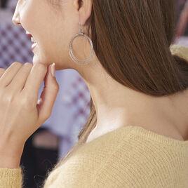 Boucles D'oreilles Pendantes Nadiona Argent Blanc - Boucles d'oreilles fantaisie Femme | Histoire d'Or