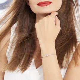 Bracelet Jonc Bilao Argent Blanc - Bracelets fantaisie Femme   Histoire d'Or
