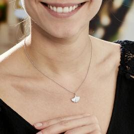 Collier Sahana Argent Blanc - Colliers Plume Femme | Histoire d'Or