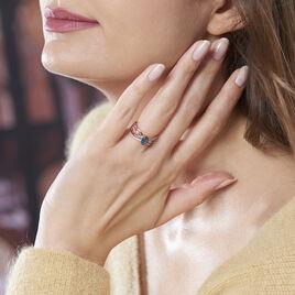 Bague Sare Or Rose Topaze Et Oxyde De Zirconium - Bagues solitaires Femme | Histoire d'Or