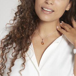 Pendentif Melusine Argent Blanc Ambre - Pendentifs Femme | Histoire d'Or