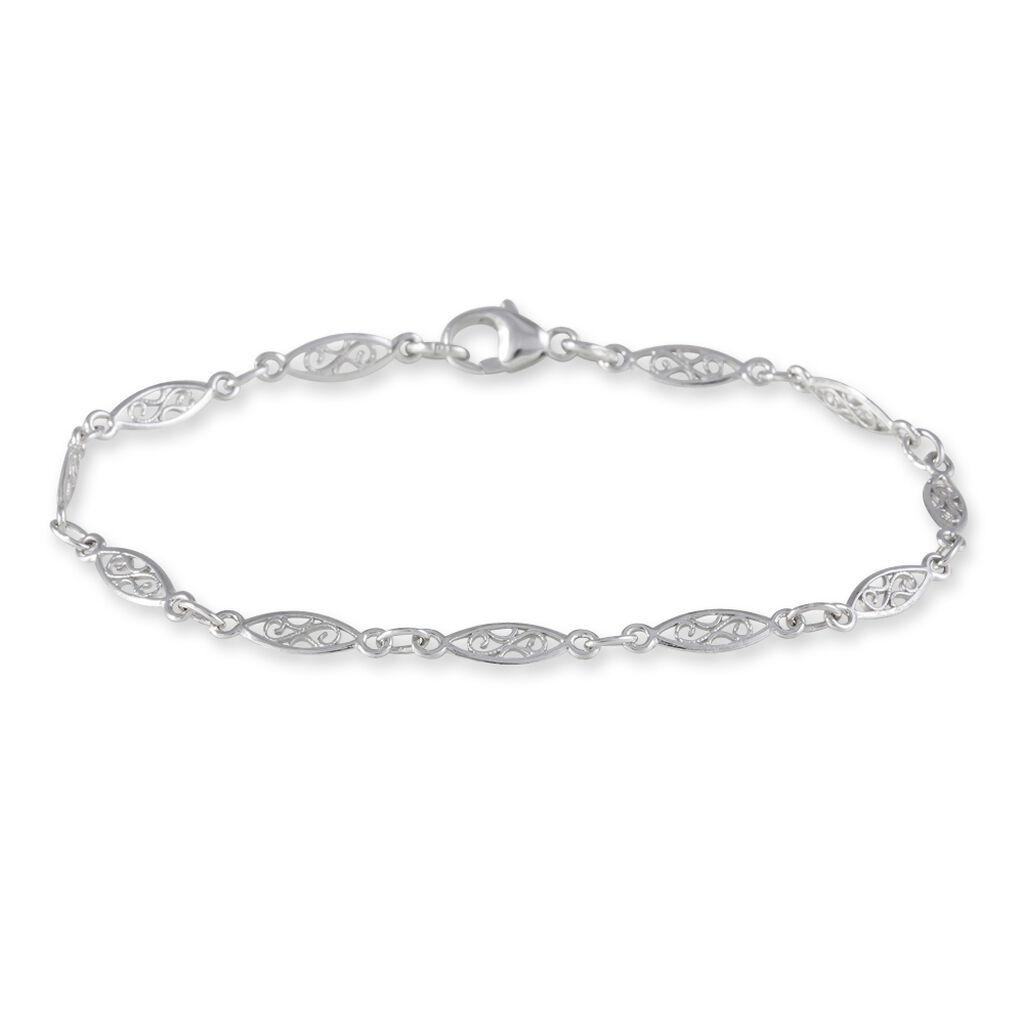 Bracelet Clemie Maille Filigrane Argent Blanc - Bracelets chaîne Femme   Histoire d'Or