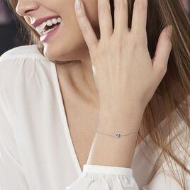 Bracelet Olly Or Blanc Oxyde De Zirconium - Bijoux Femme   Histoire d'Or