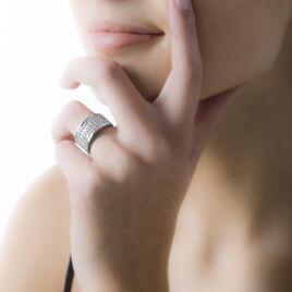 Bague Cecelia Argent Blanc Oxyde De Zirconium - Bagues avec pierre Femme | Histoire d'Or