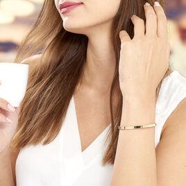 Bracelet Jonc Graca Plaque Or Jaune - Bracelets fantaisie Femme | Histoire d'Or