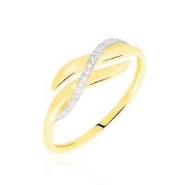Bague Ester Or Jaune Vague Diamants - Bagues avec pierre Femme | Histoire d'Or