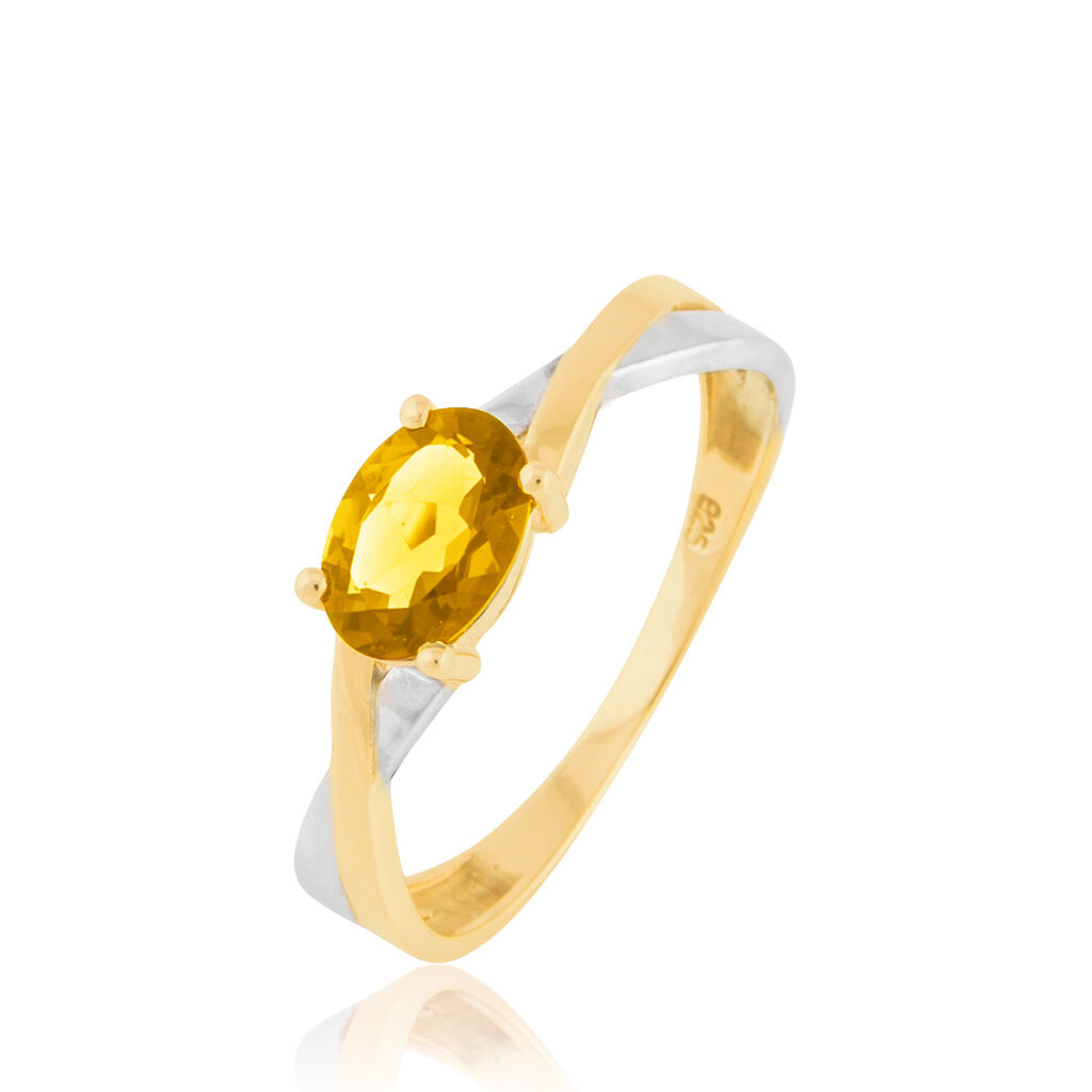 Bague Emeline Or Bicolore Citrine