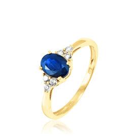 Bague Lea Or Jaune Saphir Et Diamant - Bagues avec pierre Femme | Histoire d'Or