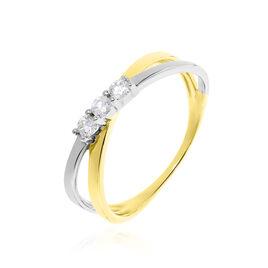 Bague Britany Or Bicolore Diamant - Bagues avec pierre Femme | Histoire d'Or