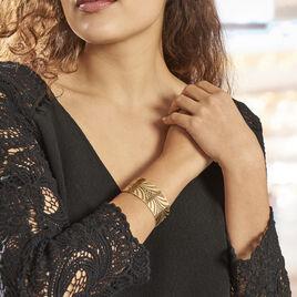 Bracelet Jonc Wilson Acier Dore - Bracelets Plume Femme | Histoire d'Or