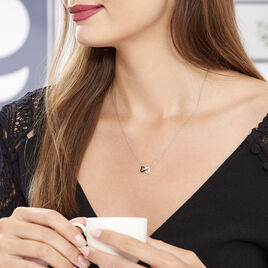 Collier Marcella Argent Blanc Oxyde De Zirconium - Colliers Coeur Femme | Histoire d'Or