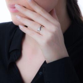 Bague Heloise Or Blanc Diamant - Bagues avec pierre Femme   Histoire d'Or