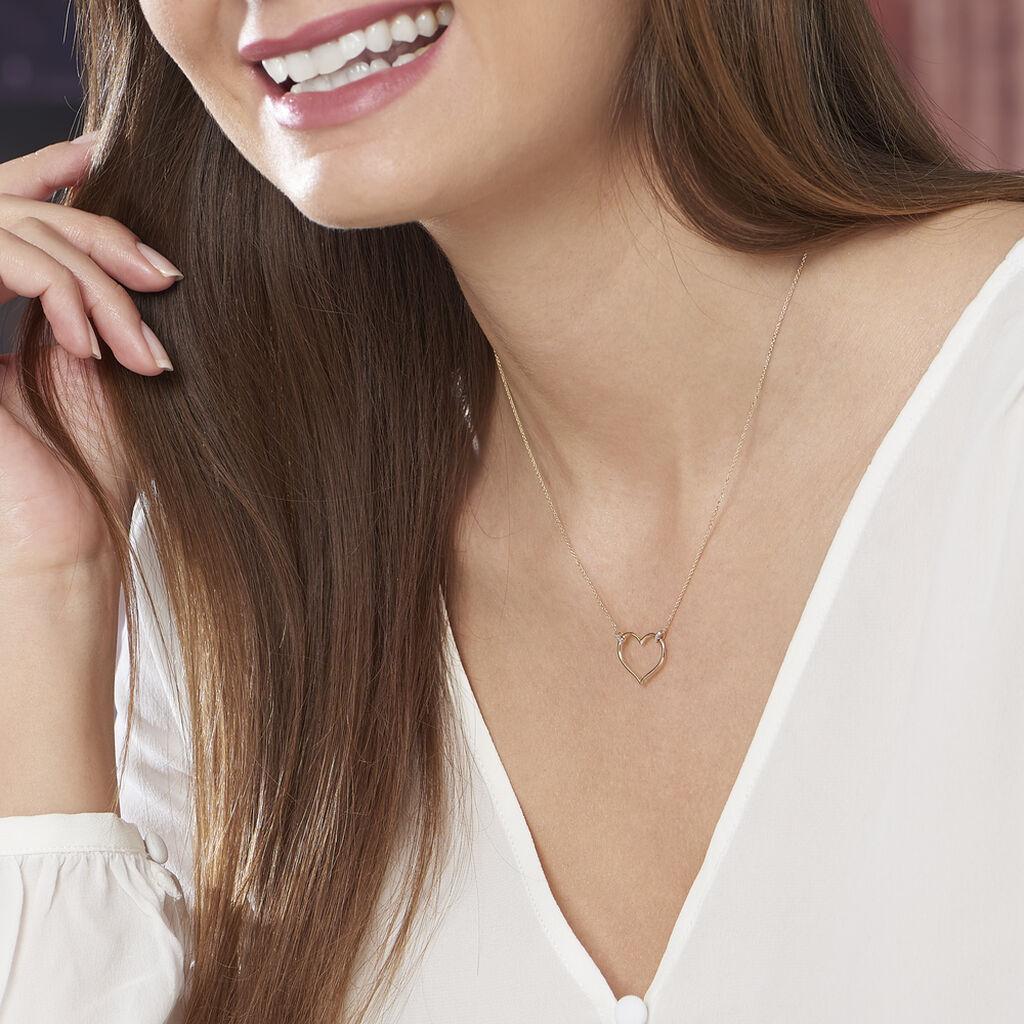 Collier Laila Or Jaune Diamant - Colliers Coeur Femme | Histoire d'Or