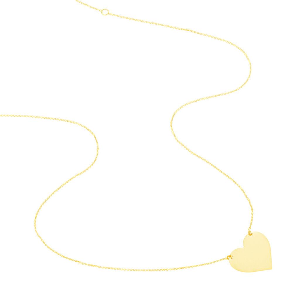 Collier Coeur Gravable Or Jaune - Colliers Coeur Femme | Histoire d'Or
