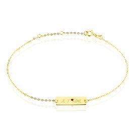 Bracelet Dona Or Jaune - Bracelets Coeur Femme | Histoire d'Or