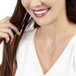 Collier Kamila Or Blanc Diamant - Colliers Coeur Femme | Histoire d'Or
