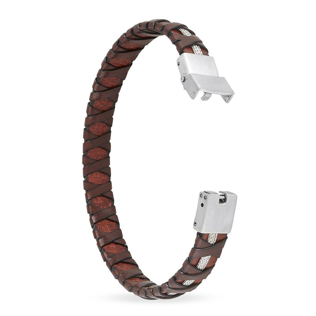 Bracelet Luc Acier Blanc - Bracelets fantaisie Homme   Histoire d'Or