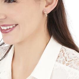 Bijoux D'oreilles Angellina Argent Rose Oxyde De Zirconium - Boucles d'oreilles fantaisie Femme | Histoire d'Or