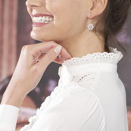 Boucles D'oreilles Pendantes Almada Argent Blanc Oxyde De Zirconium - Boucles d'oreilles fantaisie Femme   Histoire d'Or