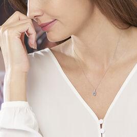 Collier Melyahae Or Blanc Topaze Et Diamant - Bijoux Femme | Histoire d'Or