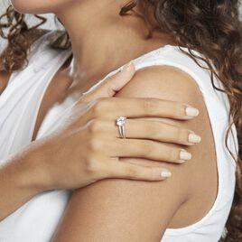 Bague Anthyme Or Blanc Oxyde De Zirconium - Bagues solitaires Femme   Histoire d'Or