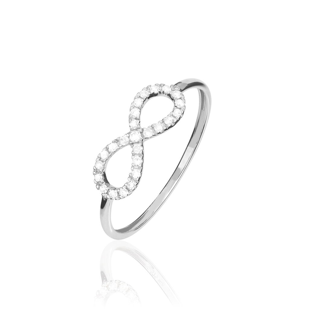 Bague Infini Empierre Or Blanc Diamant