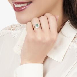 Bague Ivan Or Jaune Emeraude Et Diamant - Bagues avec pierre Femme | Histoire d'Or