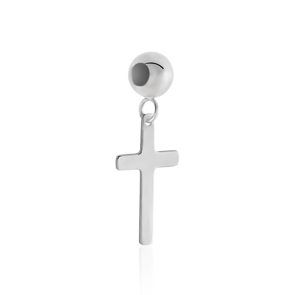 Charms Licinia Or Blanc - Pendentifs Croix Femme   Histoire d'Or