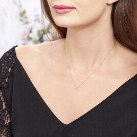 Collier Arum Or Rose Oxyde De Zirconium - Bijoux Femme   Histoire d'Or