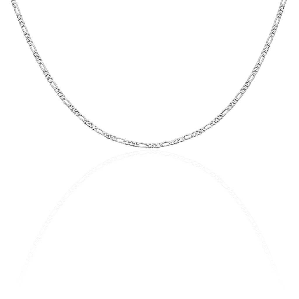 Chaine Maille Alternée 1/3 Argent Blanc - Chaines Femme | Histoire d'Or