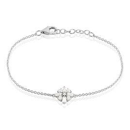 Bracelet Miryna Argent Blanc Oxyde De Zirconium - Bracelets Croix Femme | Histoire d'Or